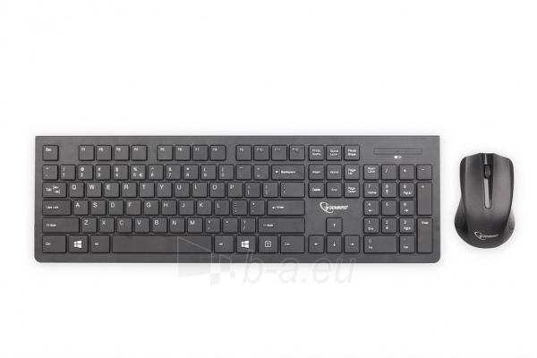 Bevielis rinkinys: pelė ir klaviatūra Gembird Slim, US layout, Juoda sp. Paveikslėlis 1 iš 2 250255701246