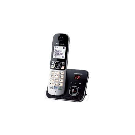 Bevielis telefonas Panasonic Cordless KX-TG6821FXB Black/Silver, Wireless connection, Speakerphone, Caller ID, Conference call, Built-in display Paveikslėlis 1 iš 1 310820103637