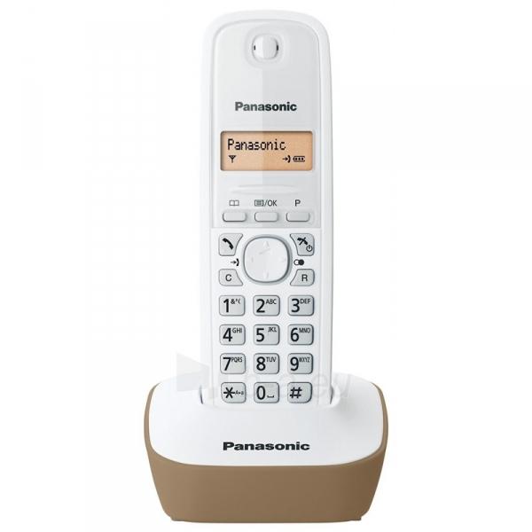 Bevielis telefonas Panasonic KX-TG1611JTJ bianco beige Paveikslėlis 2 iš 3 310820153158