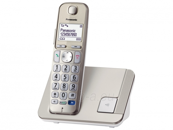 Bevielis telefonas Panasonic KX-TGE210JTN champagne Paveikslėlis 1 iš 2 310820152471