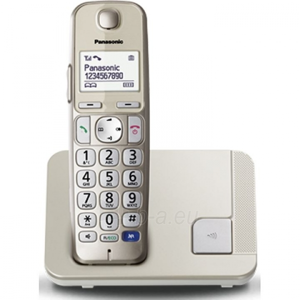 Bevielis telefonas Panasonic KX-TGE210JTN champagne Paveikslėlis 2 iš 2 310820152471