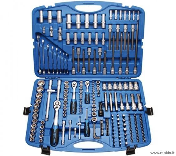 BGS TECHNIC 213 vnt. Įrankių rinkinys 1/4 + 3/8 + 1/2, Paveikslėlis 1 iš 1 310820017635