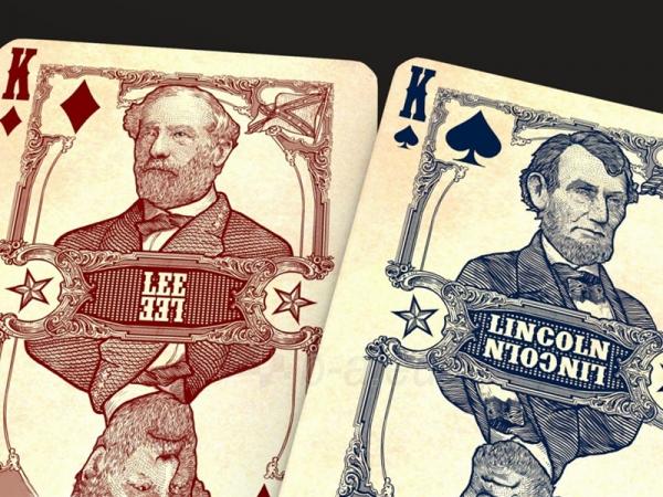 Bicycle Civil War kortos (Raudonos) Paveikslėlis 6 iš 9 251010000174