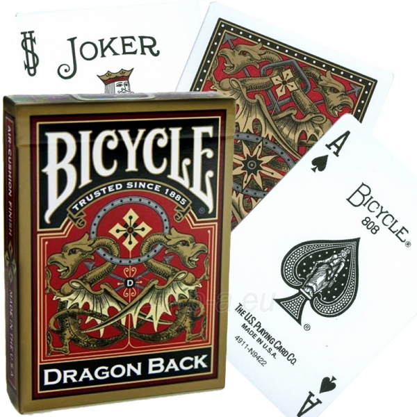 Bicycle Gold Dragon kortos Paveikslėlis 2 iš 15 251010000217