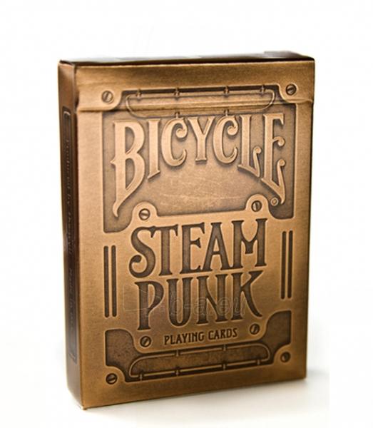 Bicycle Gold Steampunk kortos Paveikslėlis 1 iš 12 251010000218