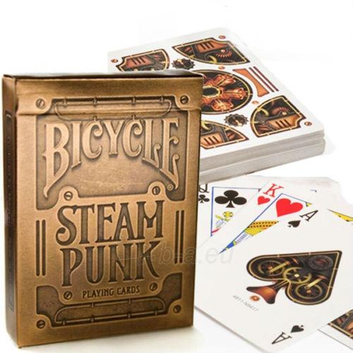Bicycle Gold Steampunk kortos Paveikslėlis 4 iš 12 251010000218