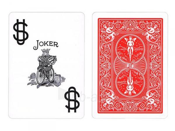 Bicycle Prestige pokerio kortos (Raudonos) Paveikslėlis 2 iš 5 251010000230