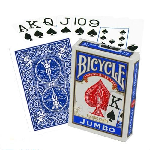 Bicycle Rider Jumbo pokerio kortos (Mėlynos) Paveikslėlis 5 iš 5 251010000233