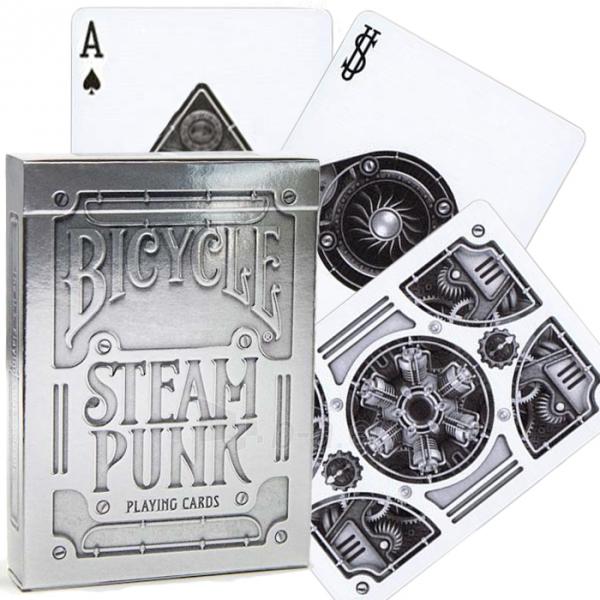 Bicycle Silver Steampunk kortos Paveikslėlis 3 iš 16 251010000242