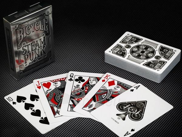 Bicycle Silver Steampunk kortos Paveikslėlis 2 iš 16 251010000242