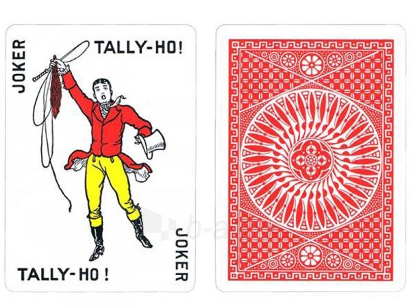 Bicycle Tally-Ho Circle kortos (Raudonos) Paveikslėlis 1 iš 7 251010000246