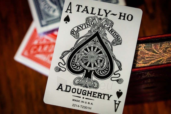 Bicycle Tally-Ho Circle kortos (Raudonos) Paveikslėlis 3 iš 7 251010000246