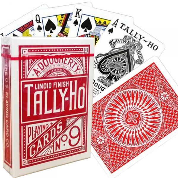 Bicycle Tally-Ho Circle kortos (Raudonos) Paveikslėlis 2 iš 7 251010000246