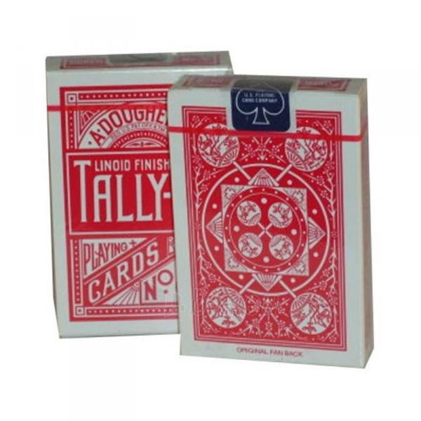 Bicycle Tally-Ho Fan back kortos (Raudonos) Paveikslėlis 2 iš 7 310820066749