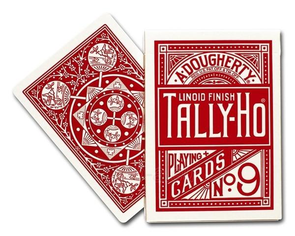 Bicycle Tally-Ho Fan back kortos (Raudonos) Paveikslėlis 3 iš 7 310820066749