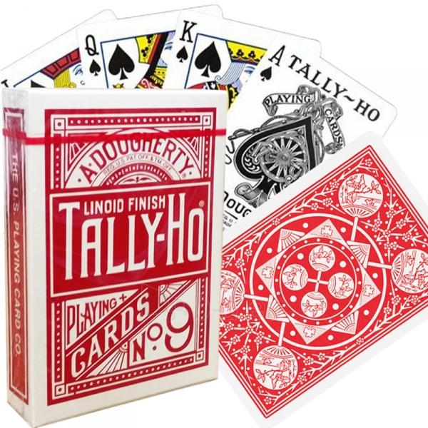 Bicycle Tally-Ho Fan back kortos (Raudonos) Paveikslėlis 6 iš 7 310820066749
