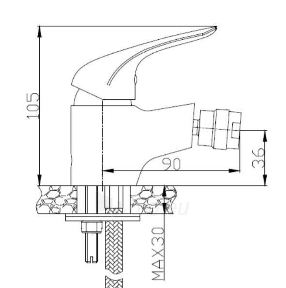 Bidė maišytuvas Optima, S-LINE PRO Paveikslėlis 5 iš 5 310820219158