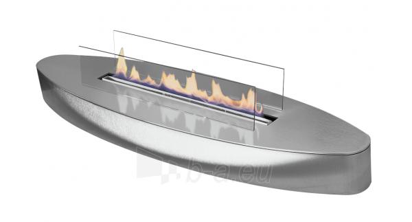 Bio židinys Ebios-fire Elipse Base, šlifuoto nerūdijančio plieno paviršius Paveikslėlis 1 iš 2 310820236043
