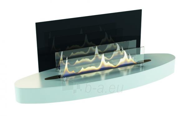 Bio židinys Ebios-fire Elipse Wall Mini, baltas Paveikslėlis 1 iš 2 310820236038