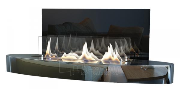 Bio židinys Ebios-fire Elipse Wall Mini, chromas Paveikslėlis 1 iš 2 310820236035