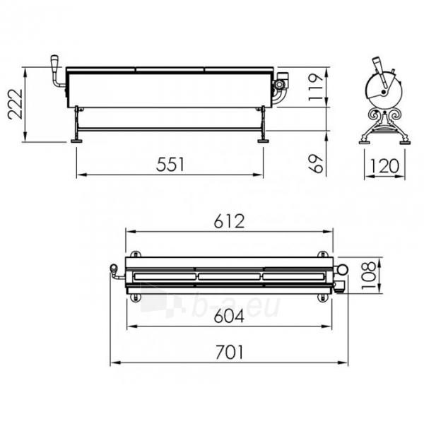 Bio židinys Spartherm Steel, nerūdijančio plieno Paveikslėlis 2 iš 3 310820236042