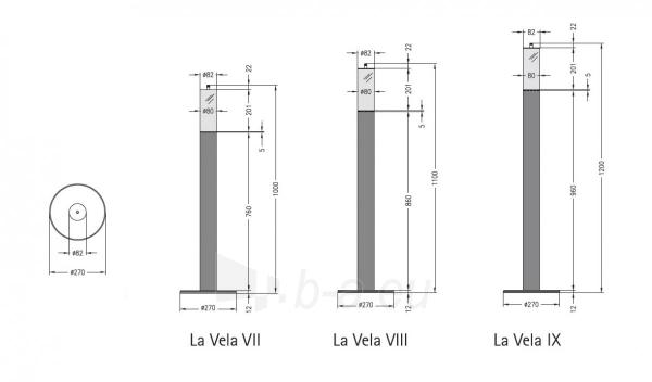 Bio židinys-žvakė Spartherm La Vela Grande IX Paveikslėlis 3 iš 4 310820236041