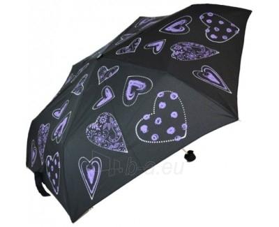 Blooming Brollies Dámský skládací vystřelovací deštník Purple Hearts EDFHPU Paveikslėlis 1 iš 1 30101500031