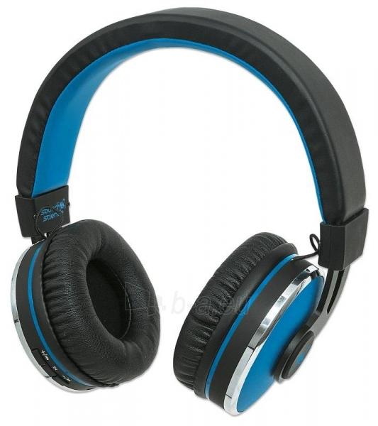 Bluetooth ausinės Manhattan Sound Science Cosmos Su mikrofonu Mėlynos Paveikslėlis 1 iš 7 310820050099
