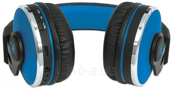 Bluetooth ausinės Manhattan Sound Science Cosmos Su mikrofonu Mėlynos Paveikslėlis 6 iš 7 310820050099