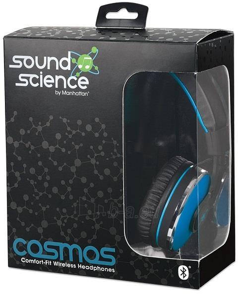 Bluetooth ausinės Manhattan Sound Science Cosmos Su mikrofonu Mėlynos Paveikslėlis 7 iš 7 310820050099