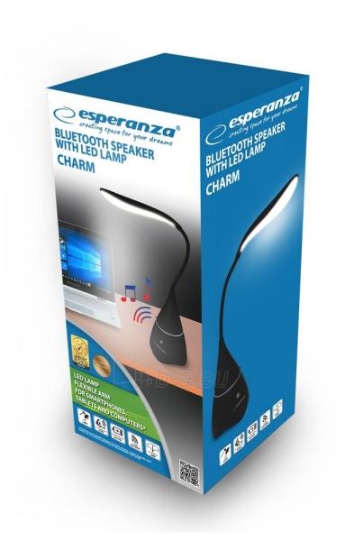 Bluetooth kolonėlė su LED lempa ESPERANZA EP151K CHARM - Paveikslėlis 4 iš 4 310820168021