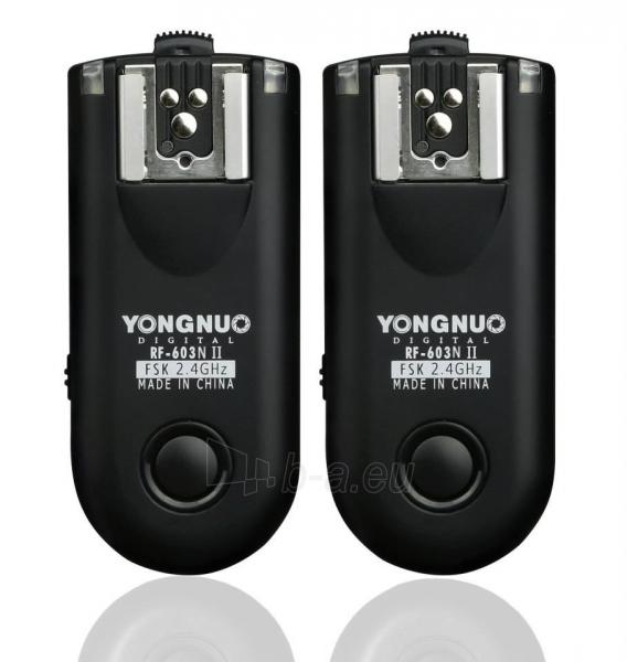 Blyksčių paleidėjas YongNuo RF-603 II N1 Paveikslėlis 1 iš 2 30025500366