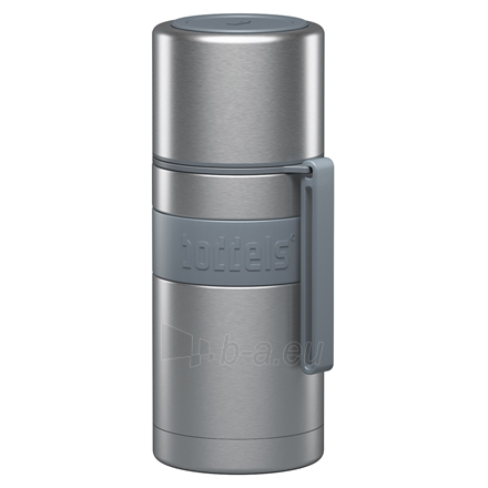 Boddels HEET Vacuum flask with cup Light grey, Capacity 0.35 L, Diameter 7.2 cm, Bisphenol A (BPA) free Paveikslėlis 1 iš 3 310820221781