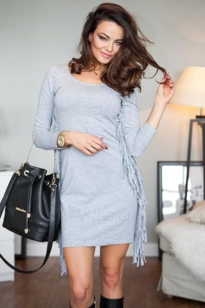 BOHO stiliaus suknelė Bianca (šviesiai pilkos spalvos) Paveikslėlis 1 iš 6 310820032660