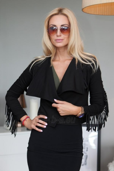BOHO stiliaus švarkelis Holam (juodos spalvos) Paveikslėlis 1 iš 4 310820033754