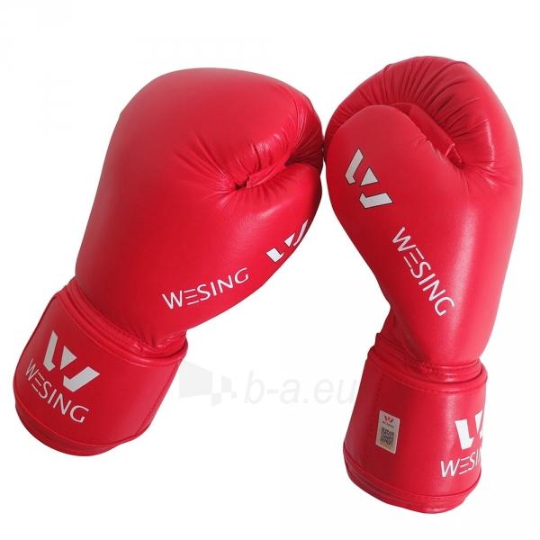Bokso pirštinės Wesing AIBA, Raudonos Paveikslėlis 1 iš 1 310820040084