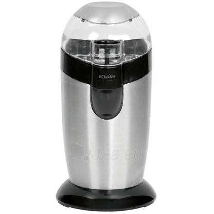 Bomann KSW 445 Coffee grinder, stainless steel housing, beater blade and bean container, 120 W, Inox Paveikslėlis 1 iš 1 250123500020