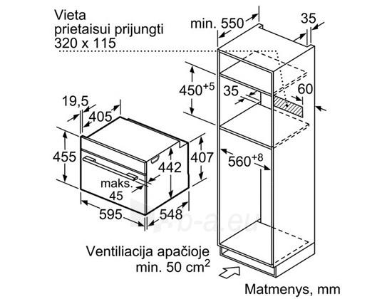 BOSCH CMG633BB1 Įm. orkaitė Juoda Paveikslėlis 1 iš 1 250133000973