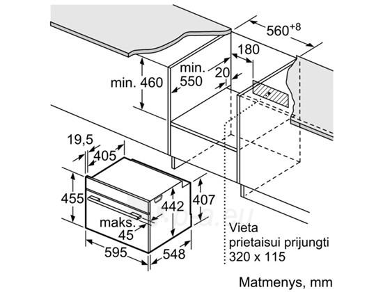 BOSCH CMG633BS1 Įm. orkaitė Inox Paveikslėlis 1 iš 1 250133000972