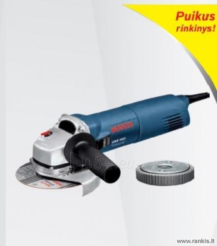 BOSCH GWS 1400 Professional elektrinis kampinis šlifuoklis + greito fiksavimo veržlė SDS-clic Paveikslėlis 1 iš 1 310820054719