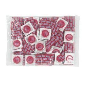 Braškinių prezervatyvų rinkinys (100 vnt) Paveikslėlis 1 iš 2 2514135000216