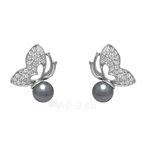 Brilio Silver sidabriniai auskarai su perlais ir cirkoniu 53121225 Paveikslėlis 1 iš 3 310820026054