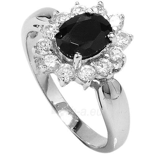 Brilio Silver sidabrinias žiedas su juodu kristalu 5121615B (Dydis: 54 mm) Paveikslėlis 1 iš 2 310820041107