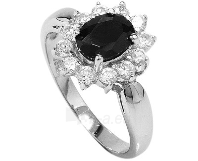 Brilio Silver sidabrinias žiedas su juodu kristalu 5121615B (Dydis: 58 mm) Paveikslėlis 1 iš 1 310820041109
