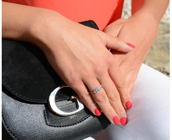 Brilio Silver sidabrinias ring su kristalu 31G3031 (Dydis: 56 mm) Paveikslėlis 3 iš 4 310820041119