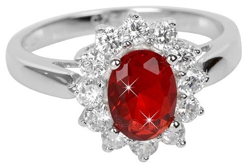Brilio Silver sidabrinias žiedas su raudonu kristalu 5121615R (Dydis: 54 mm) Paveikslėlis 1 iš 3 310820041114