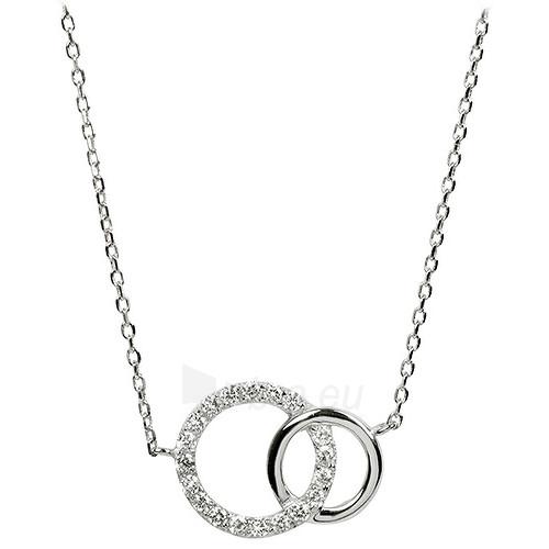 Brilio Silver sidabrinis kaklo papuošalas su cirkoniu 5570485 Paveikslėlis 1 iš 3 310820026052