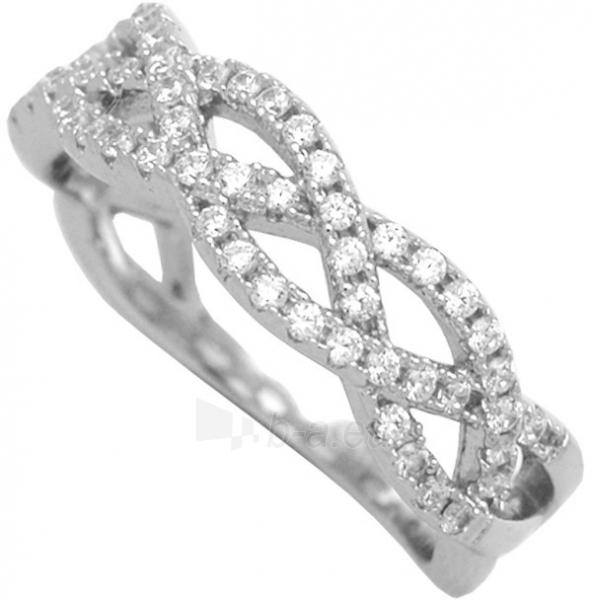 Brilio Silver sidabrinis žiedas su cirkoniu 31G3035 (Dydis: 52 mm) Paveikslėlis 1 iš 3 310820023459