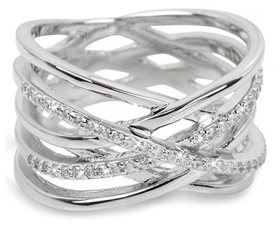 Brilio Silver sidabrinis žiedas su cirkoniu 31G3071 (Dydis: 54 mm) Paveikslėlis 1 iš 1 310820025717