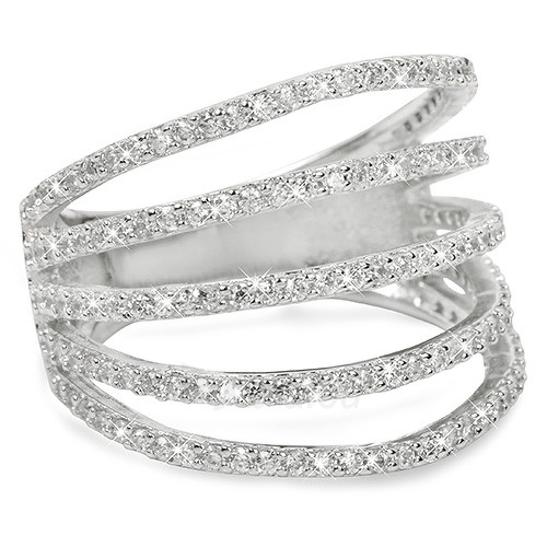Brilio Silver sidabrinis žiedas su cirkoniu 31G3098 (Dydis: 54 mm) Paveikslėlis 1 iš 3 310820025713